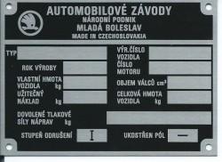 štítok Škoda univerzálny 1