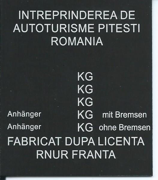 štítok Dacia univerzálny
