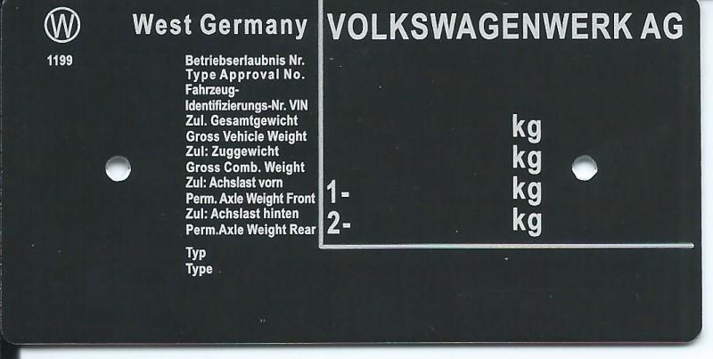 štítok Volkswagen univerzálny