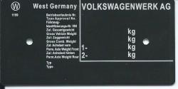 štítok Volkswagen univarzálny
