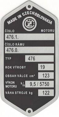 štítok ČZ 476
